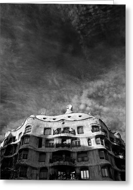 Casa Mila Greeting Card by Dave Bowman