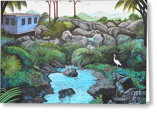 Casa Tropical Greeting Card by Juan Gonzalez