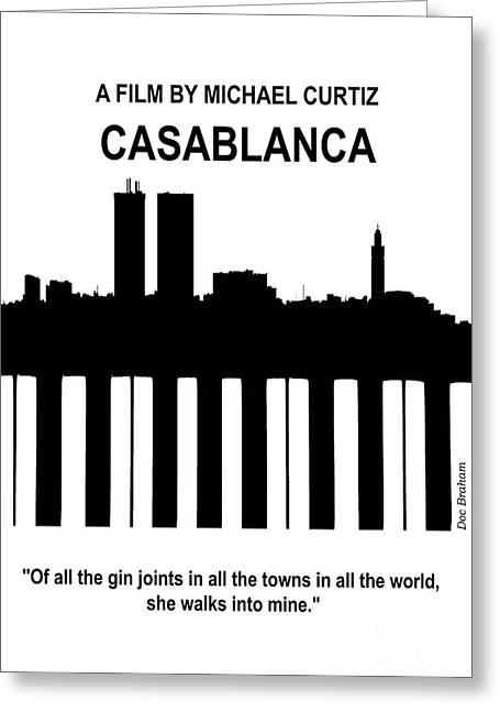 Casablanca - Doc Braham - All Rights Reserved Greeting Card