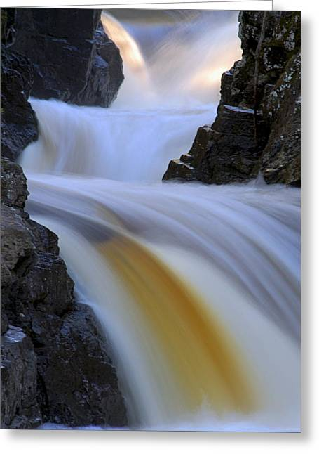 Cascade At Dawn Greeting Card