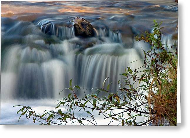 Cascade At Sunrise Greeting Card by Timothy McIntyre