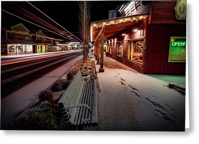 Greeting Card featuring the photograph Cascade Avenue by Cat Connor