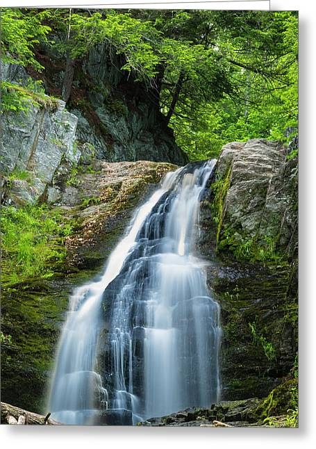Cascade Falls In South Portland In Maine Greeting Card