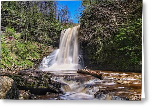 Cascade Falls In Spring Greeting Card