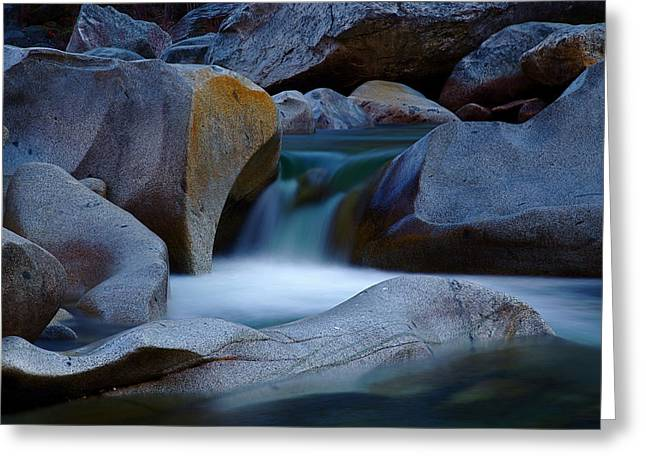Cascade Greeting Card by John Daly