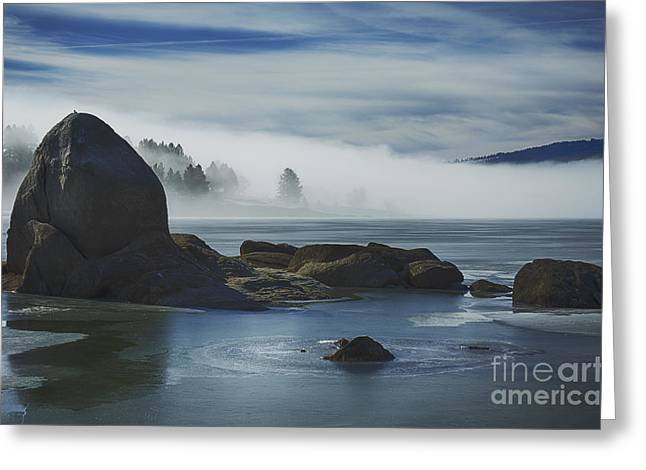 Cascade Mists Greeting Card by Idaho Scenic Images Linda Lantzy