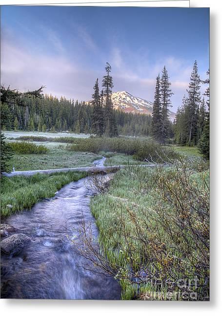 Cascade Morning Greeting Card