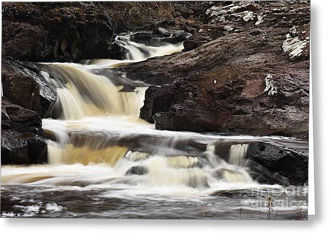 Greeting Card featuring the photograph Cascade On The Two Island River by Larry Ricker