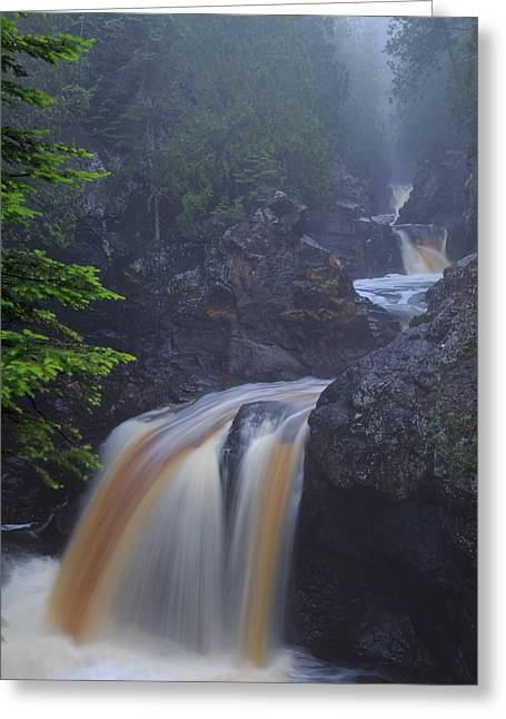 Greeting Card featuring the photograph Cascade River Cascade by Paul Schultz