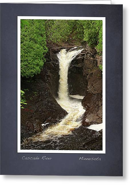 Cascade River Scrapbook Page Greeting Card