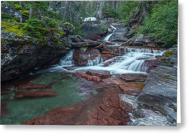 Greeting Card featuring the photograph Cascades by Gary Lengyel