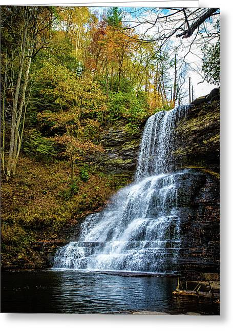 Cascades Lower Falls Greeting Card