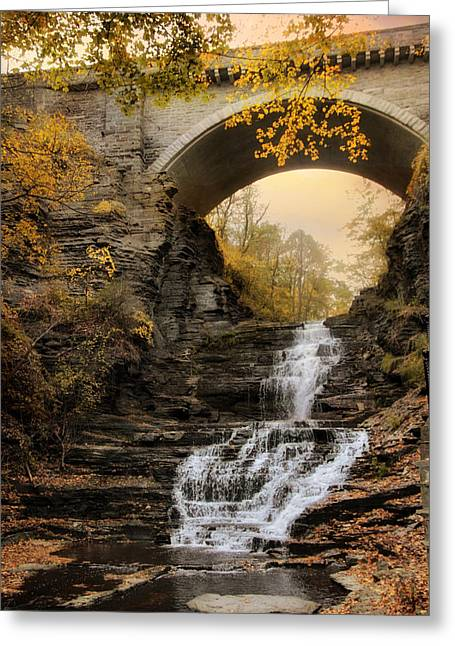 Cascadilla Falls Greeting Card by Jessica Jenney