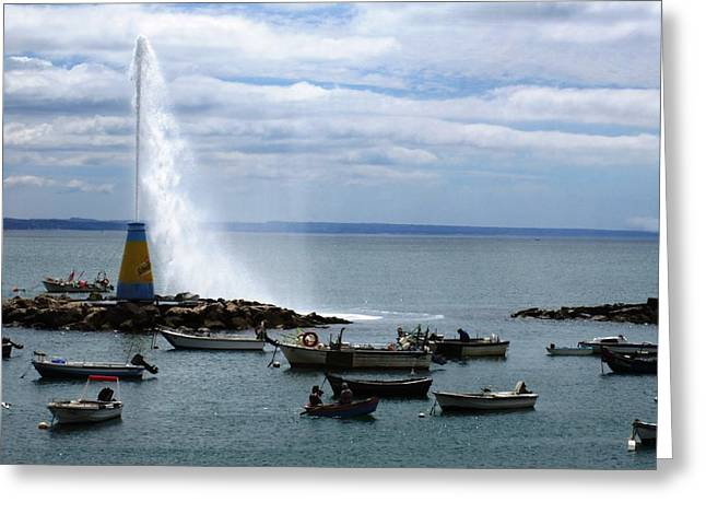 Cascais Fishing Boats Portugal Greeting Card