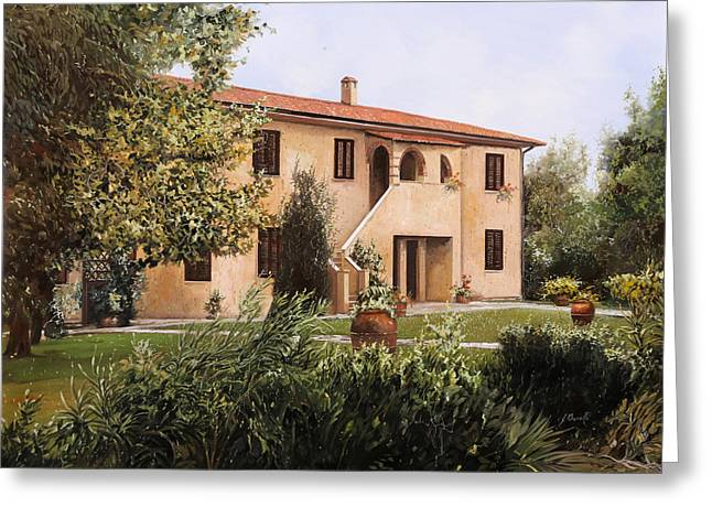 Cascina Toscana Greeting Card by Guido Borelli