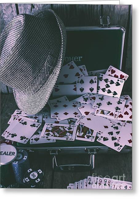 Case Of A Gambling Pro  Greeting Card