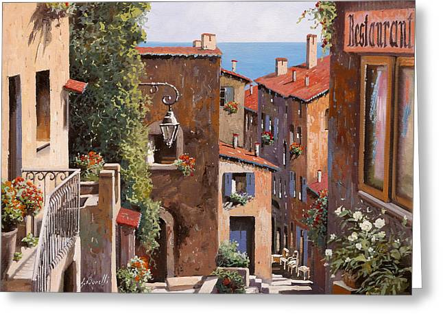 casette a Cagnes Greeting Card by Guido Borelli
