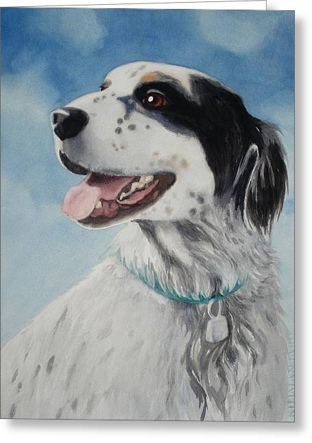 Casey Greeting Card by Marilyn Jacobson