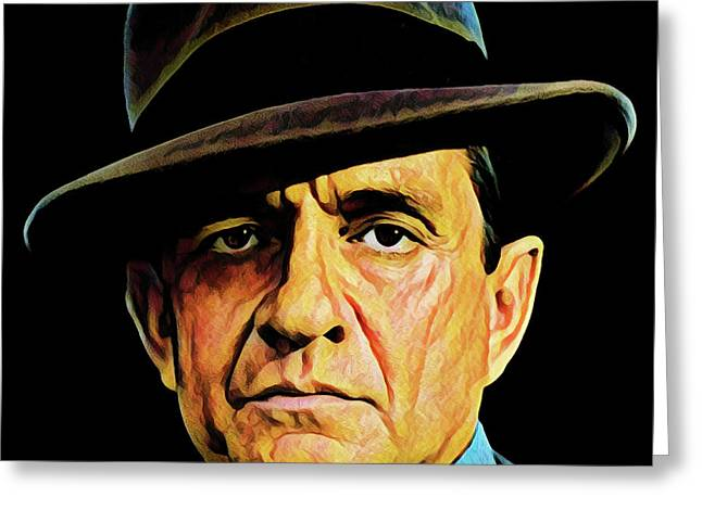 Cash With Hat Greeting Card