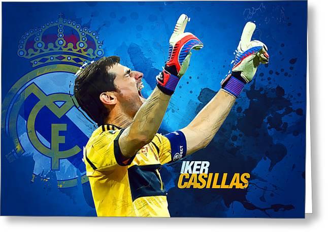 Casillas Greeting Card by Semih Yurdabak