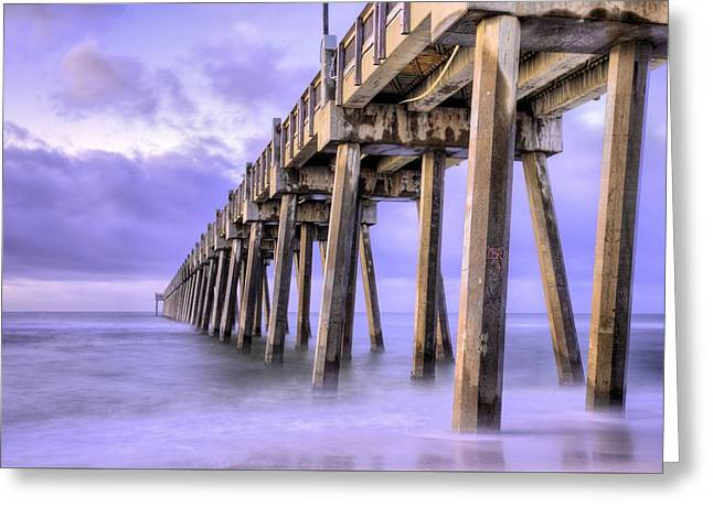 Casino Beach Pier Greeting Card by JC Findley