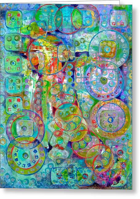 Casino Greeting Card by Gretchen Ten Eyck Hunt