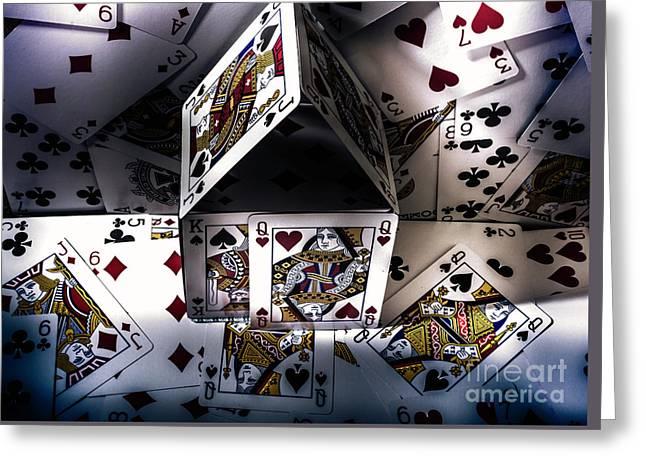 Casino House Greeting Card