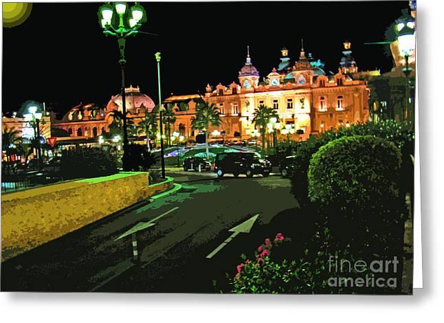 Casinos Of Monte Carlo Greeting Card by Al Bourassa