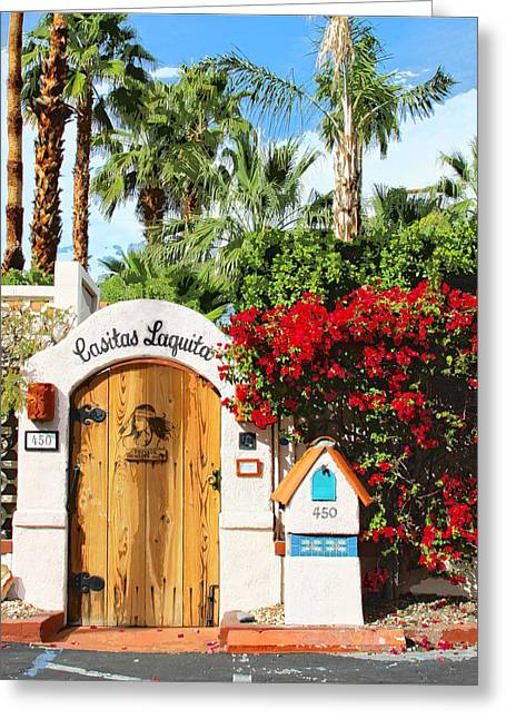 Modernism Greeting Cards - CASITAS LAQUITA Palm Springs Greeting Card by William Dey