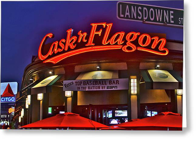 Cask And Flagon Citgo Sign Lansdowne Street Greeting Card