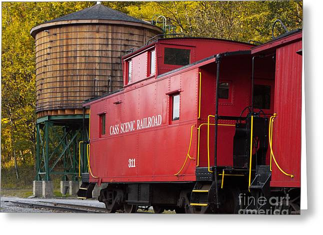 Cass Railroad Caboose Greeting Card by Jerry Fornarotto