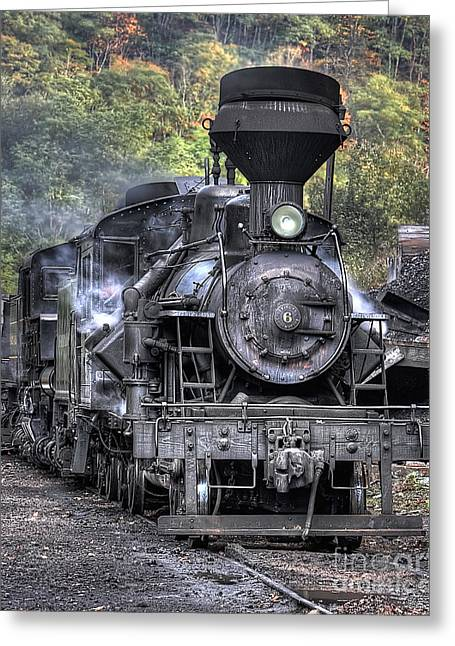 Cass Railroad Engine No 6 Greeting Card by Jerry Fornarotto
