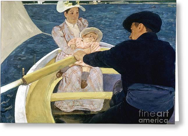 Cassatt: Boating, 1893-4 Greeting Card by Granger