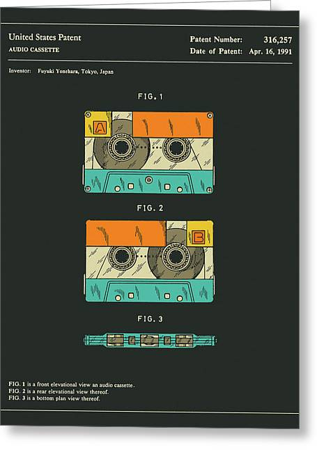 Cassette Tape Patent 1991 Greeting Card