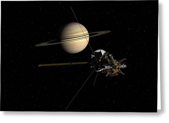 Cassini Closing In On Saturn Greeting Card