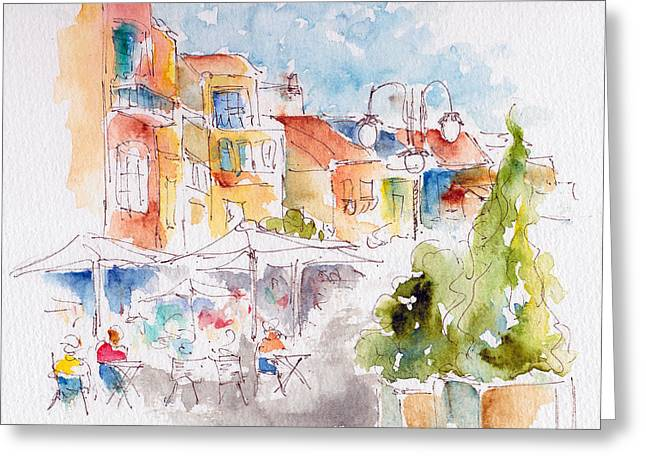 Cassis Along The Promenade Greeting Card