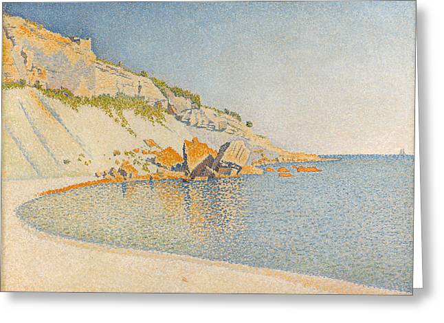 Greeting Card featuring the painting Cassis. Cap Lombard. Opus 196 by Paul Signac
