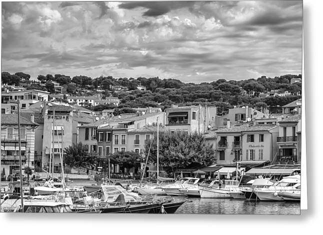 Cassis - South Of France - Square Greeting Card by Georgia Fowler