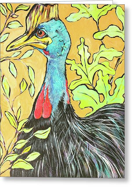 Cassowary Bird Painted From Zoo Atlanta Greeting Card