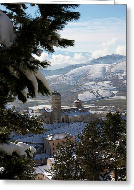 Castel Del Monte Abruzzo Italy Greeting Card by Tom  Doherty