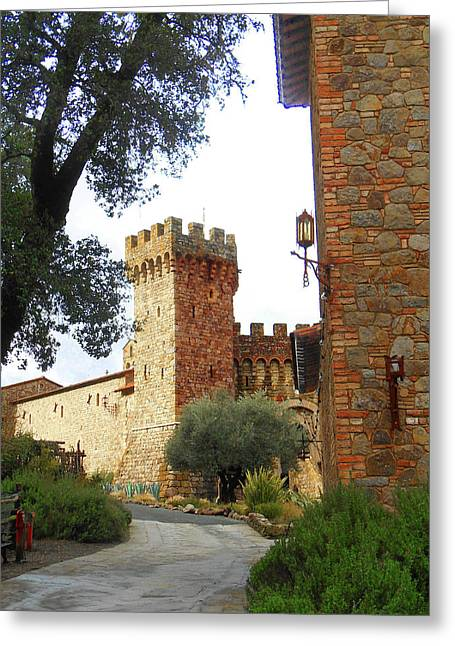 Castello Di Amorosa Napa Valley California Greeting Card by Irina Sztukowski