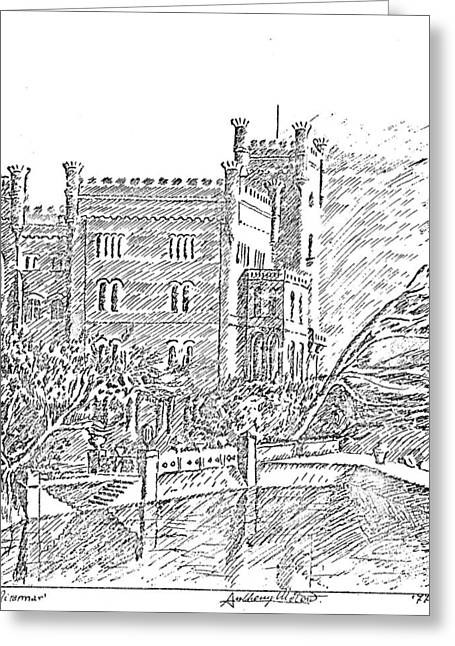 Castello Di Miramare Greeting Card by Anthony Meton