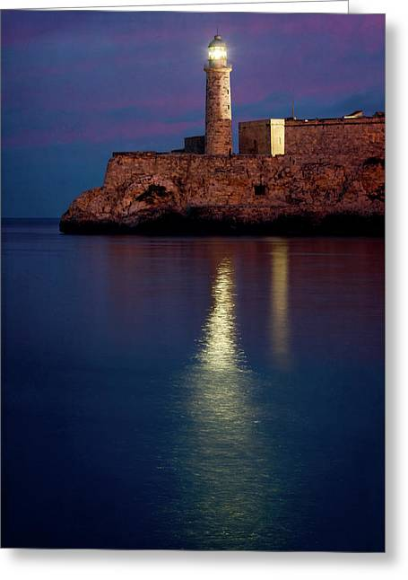 Castillo Del Morro Lighthouse Havana Cuba Greeting Card