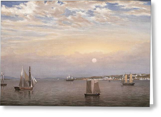Castine Harbor And Town Greeting Card