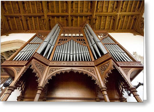 Castle Ashby Pipe Organ Greeting Card