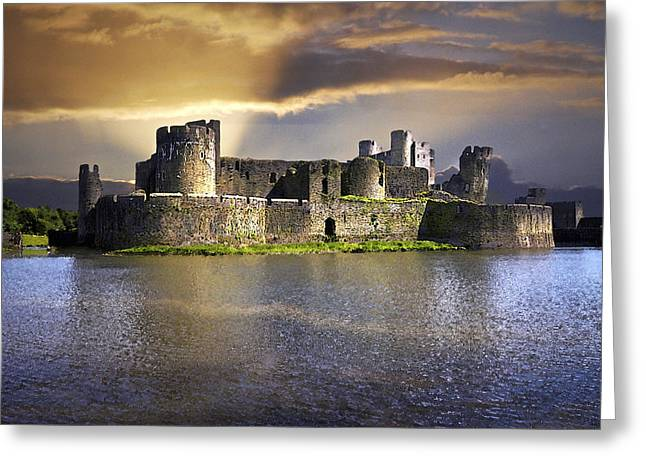 Castle At Dawn Greeting Card