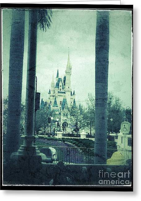 Castle Between The Palms Greeting Card