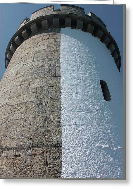 Castle Breakwater Lighthouse Greeting Card by Bruce