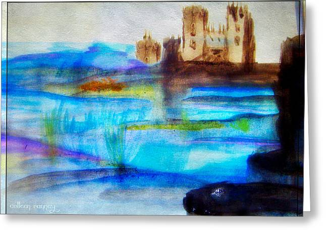 Castle By Colleen Ranney Greeting Card
