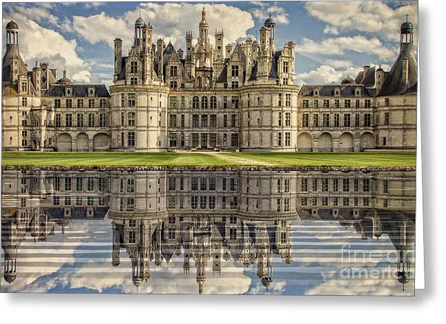 Greeting Card featuring the photograph Castle Chambord by Heiko Koehrer-Wagner